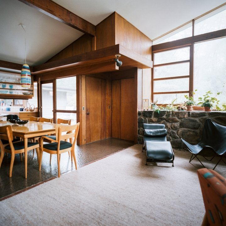 The Lurie House, designed by Kaneji Domoto - living room