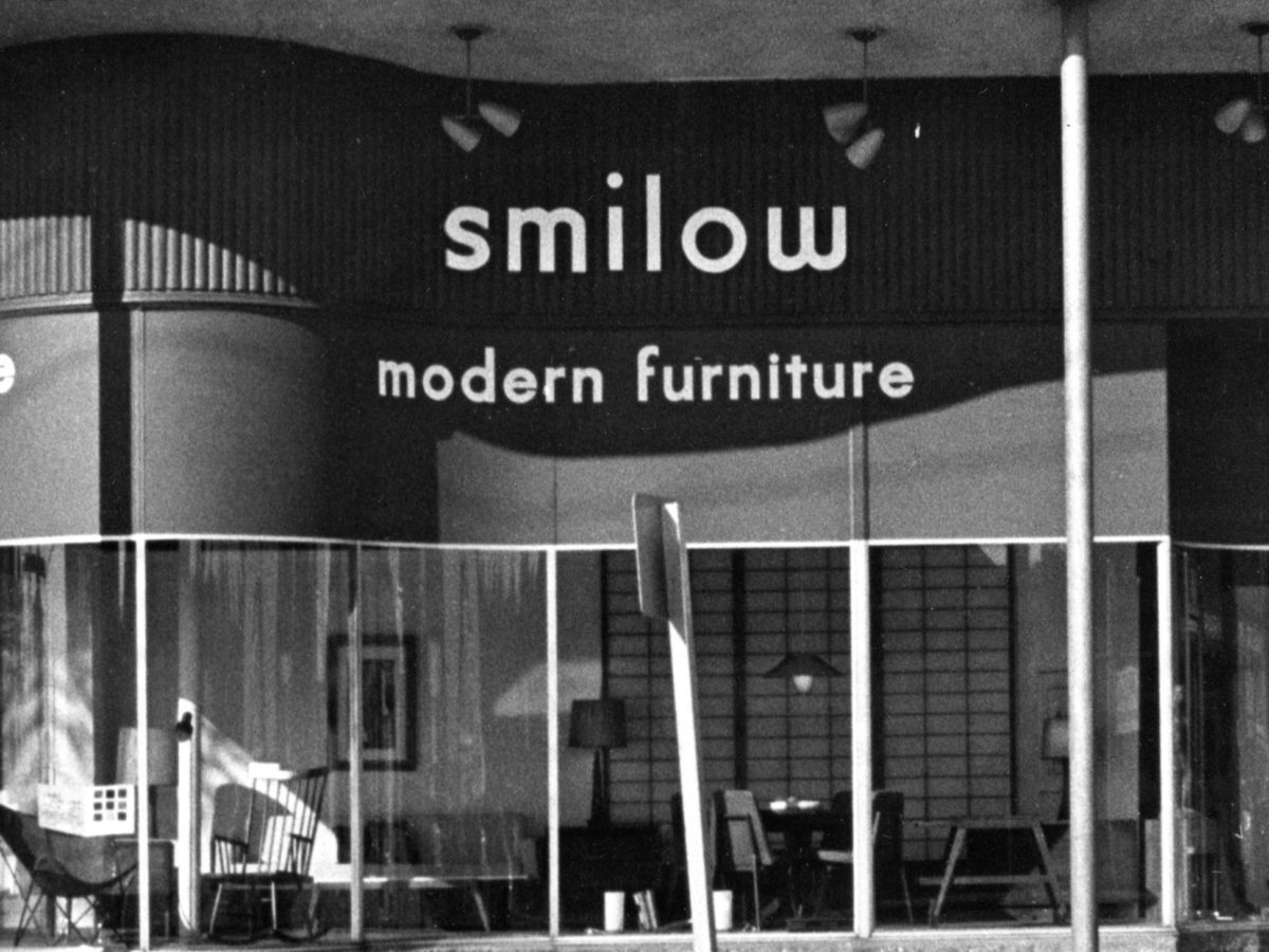 Mel Smilow - outside store