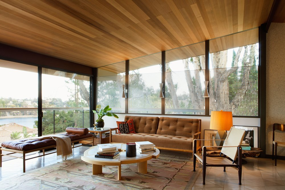 mid-century house renovation - The Archers - Hill House V - living room