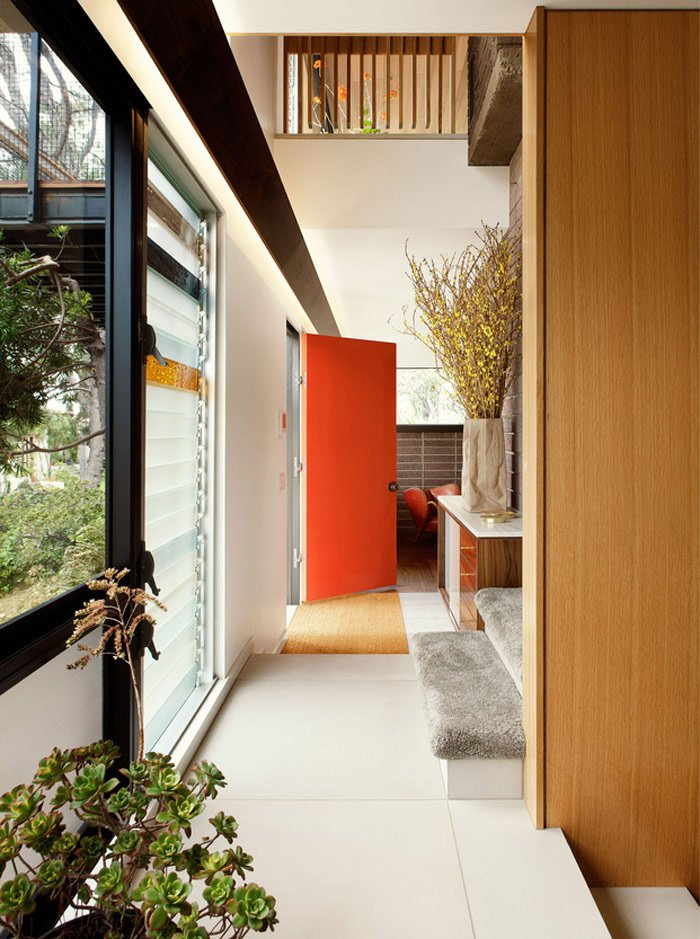 mid-century house renovation - The Archers - Hill House V - entrance
