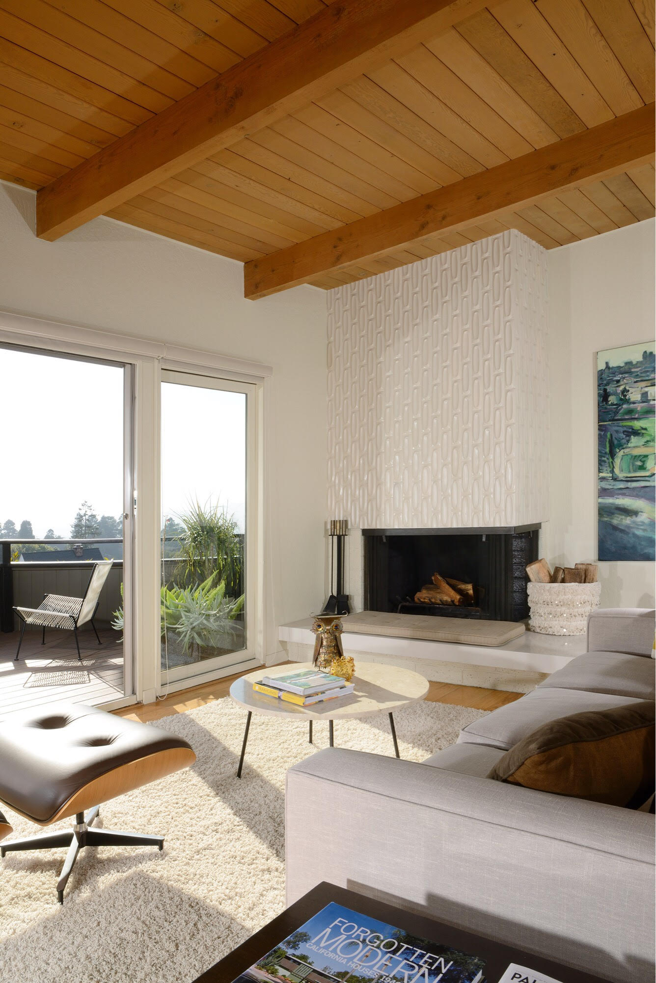 mid-century home in kensington, ca - dan chavkin - living room