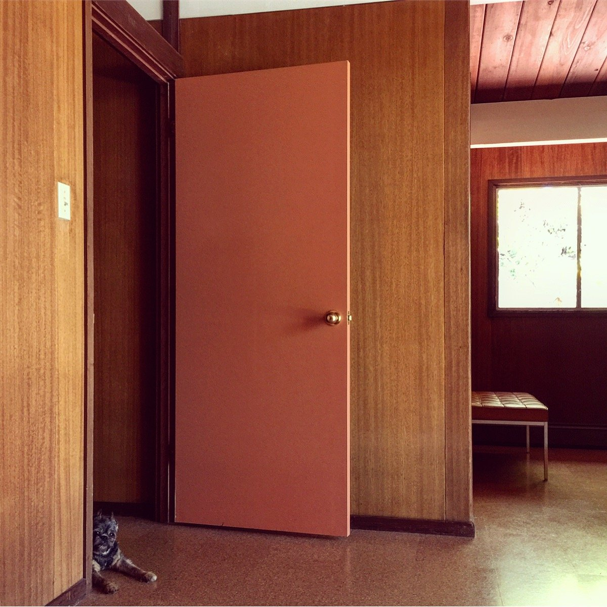 Amy Keeler - Eichler House in Palo Alto - interview - entrance