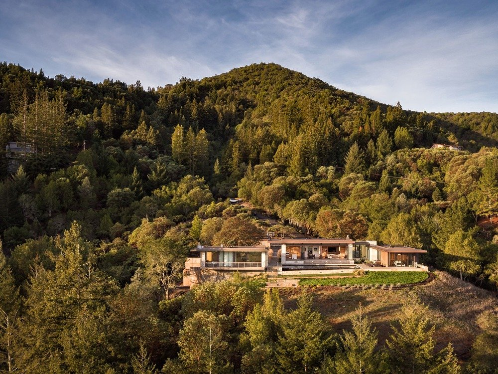 Dry Creek house - john maniscalco architecture - view from the hill