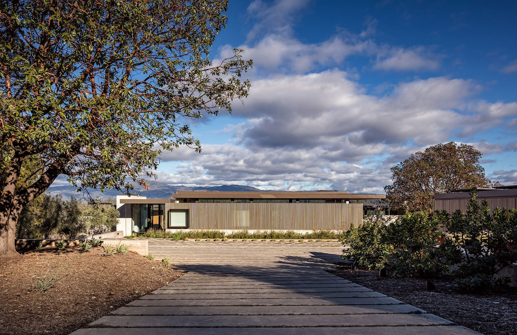 Dry Creek house - john maniscalco architecture - front view