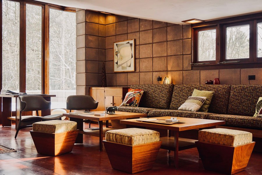 Frank Lloyd Wright - Eppstein House - living room