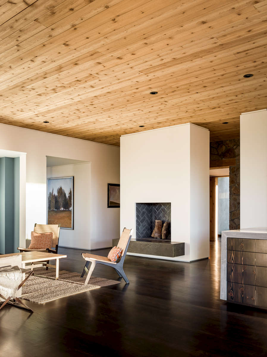 Jorgensen Design - Oak Knoll contemporary Residence - living room