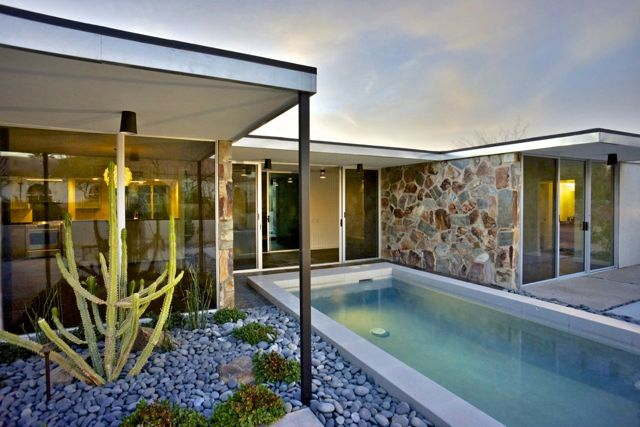 Mid-century in Arizona by Alfred Newman Beadle - pool