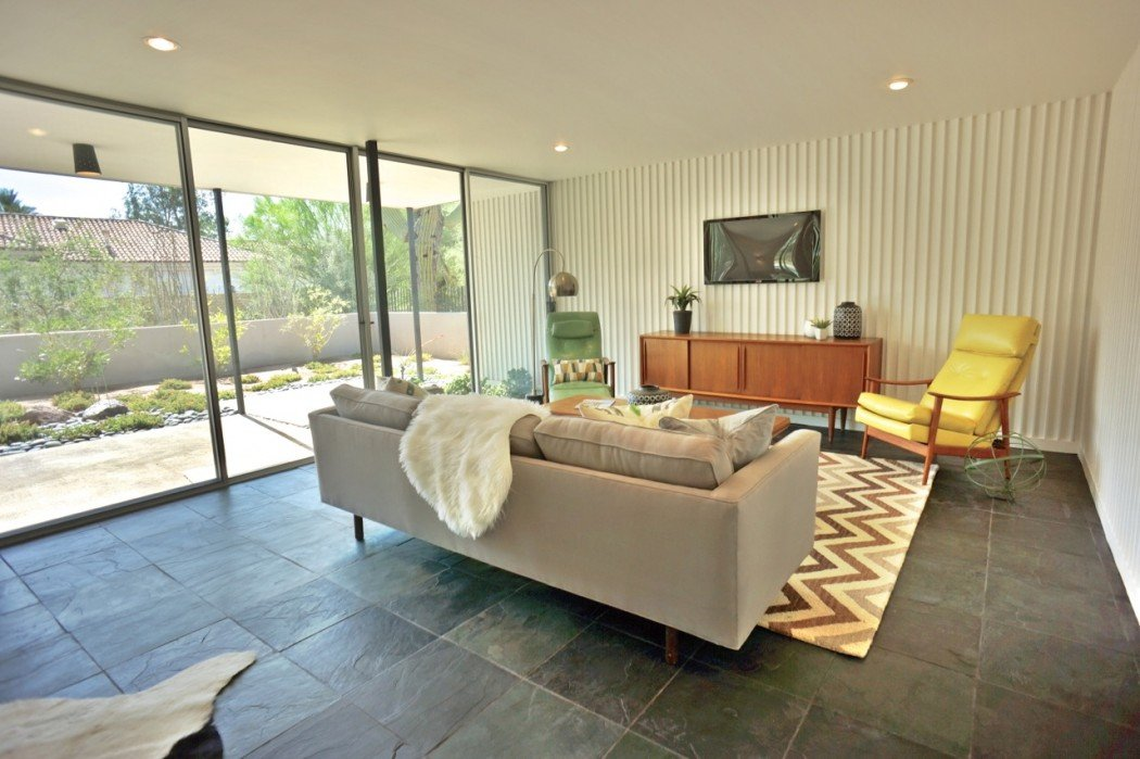 Mid-century in Arizona by Alfred Newman Beadle - living room