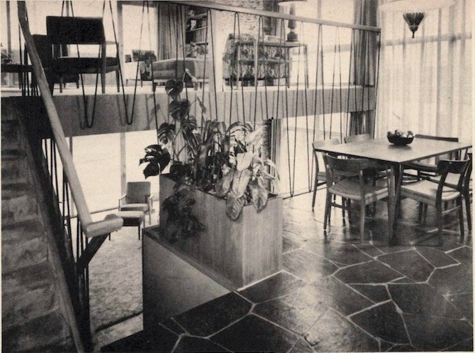 mid-century house in Vancouver - original 1957 dining area photo