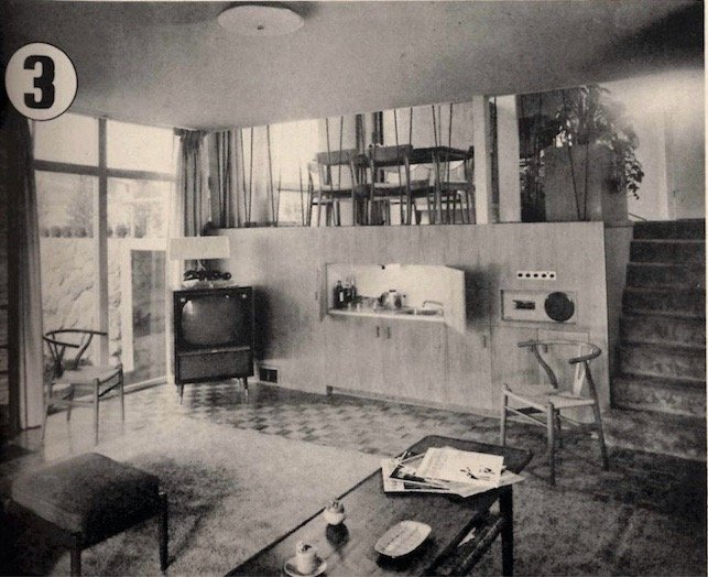 mid-century house in Vancouver - original 1957 family room photo