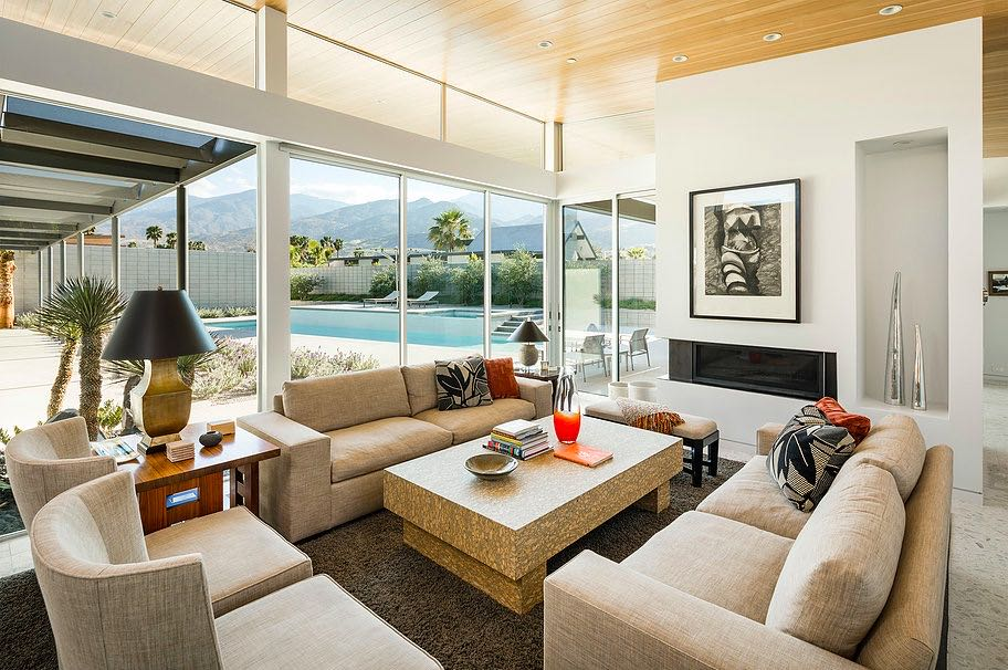 South Palm Canyon Uno​ - O2 ARCHITECTURE - living room