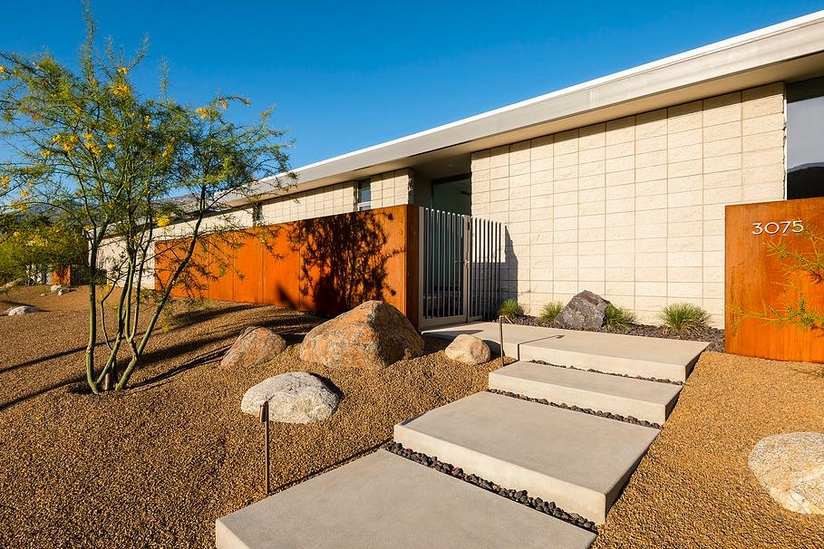 South Palm Canyon Uno​ - O2 ARCHITECTURE - exterior entrance