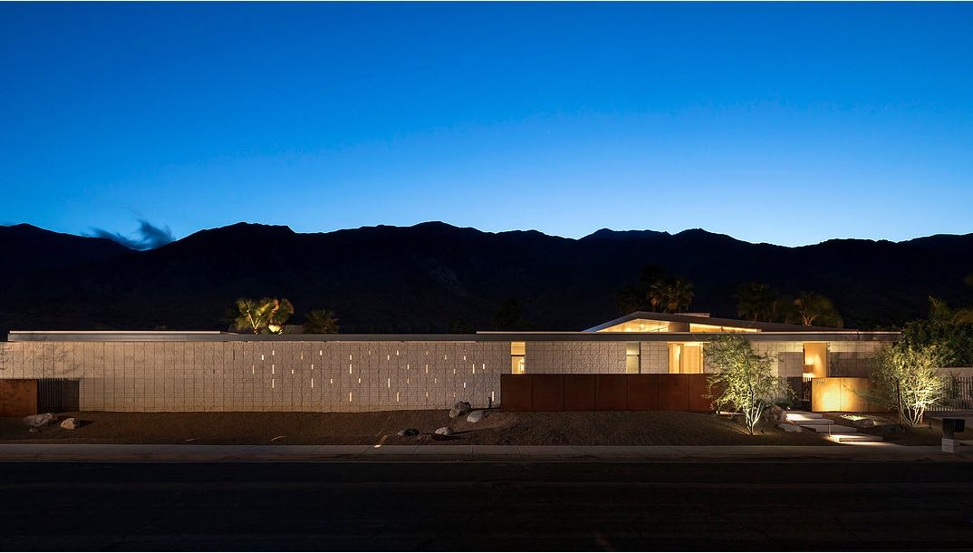 South Palm Canyon Uno​ - O2 ARCHITECTURE - exterior night