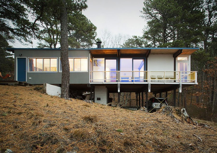 mid-century Weidlinger House by Paul Weidlinger - exterior