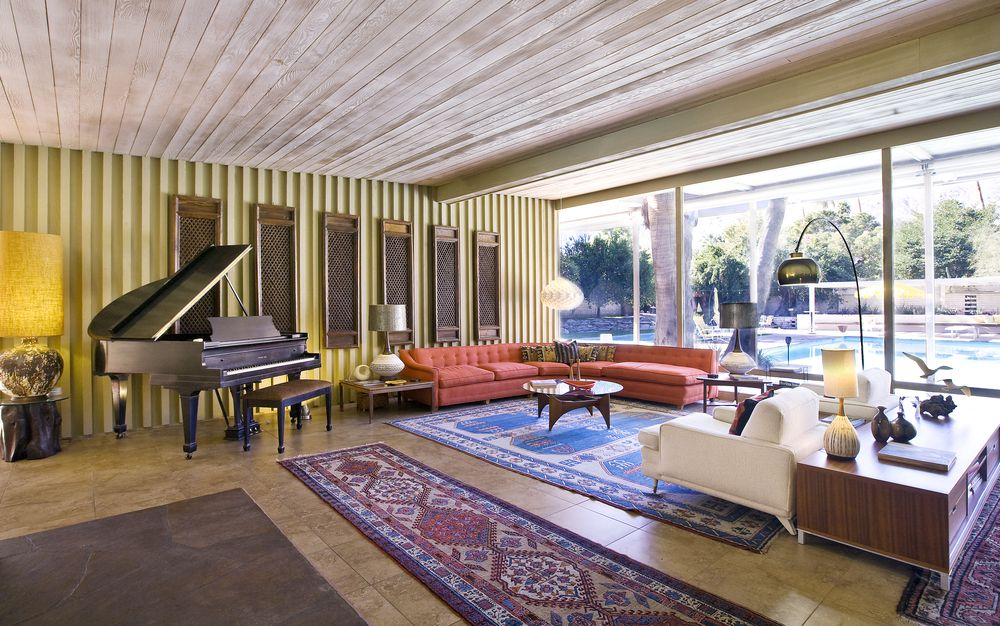 Palms Springs mid-century - Koerner House - E Stewart Williams - living room