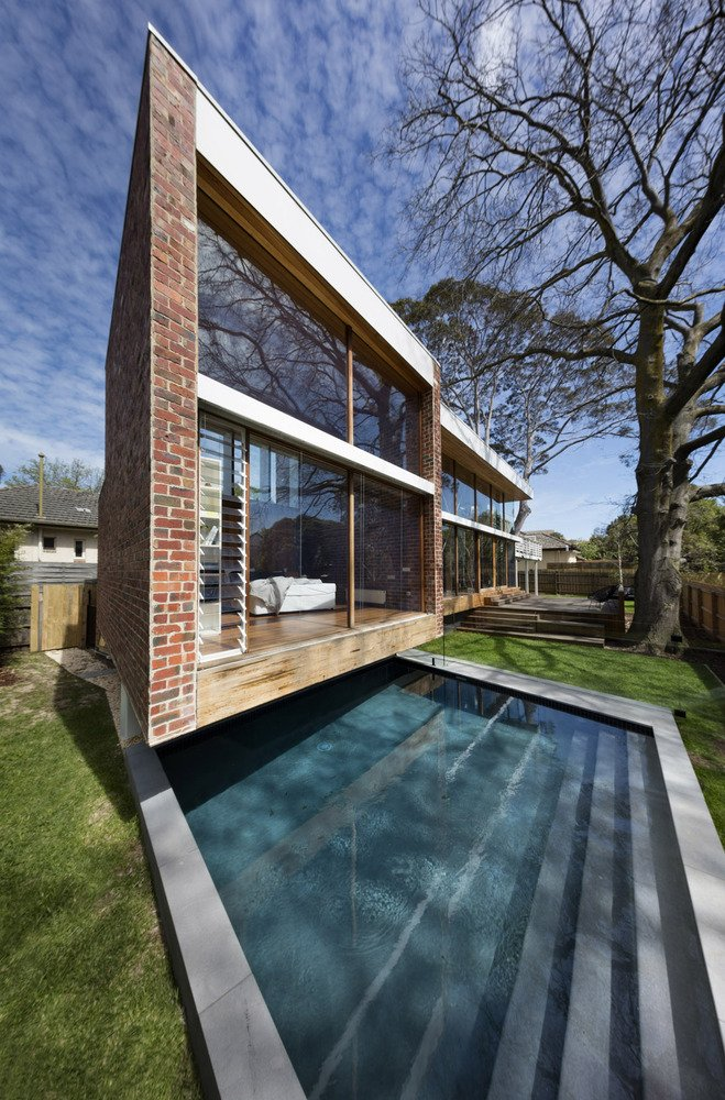 mid-century renovation in Victoria - Camberwell House - AM Architecture - pool
