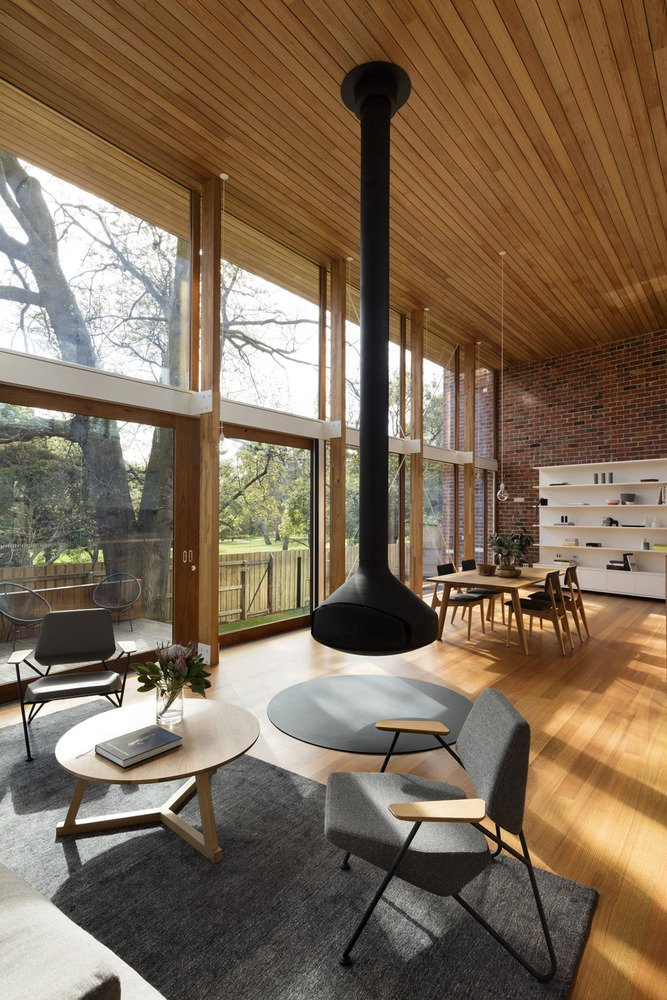 mid-century renovation in Victoria - Camberwell House - AM Architecture - living area