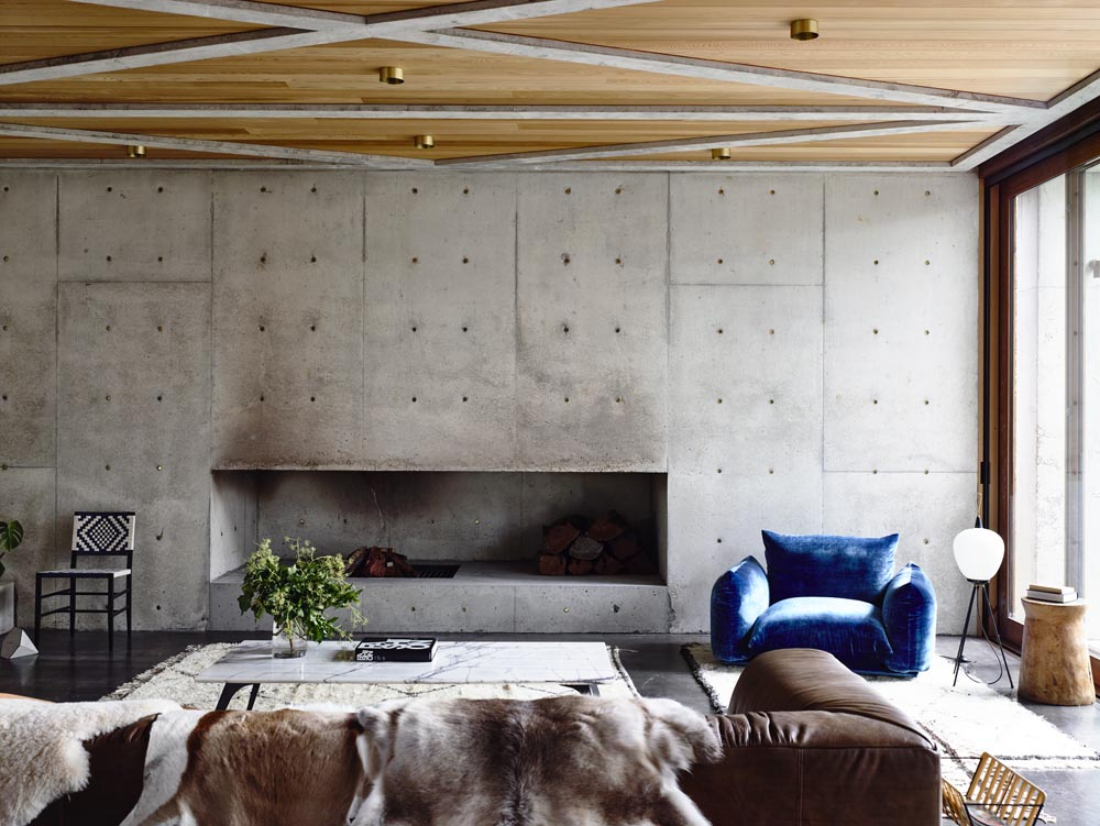 Contemporary Modernist Concrete House - Auhaus Architects - living area