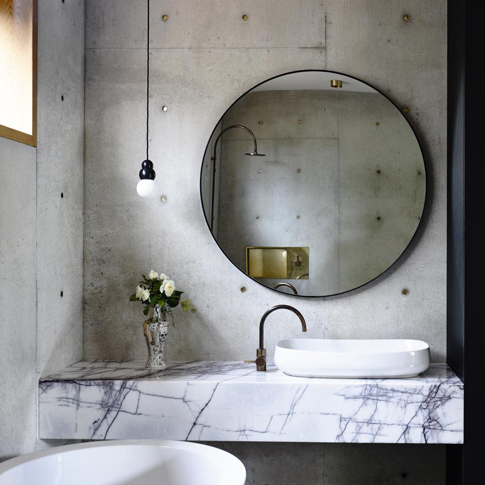 Contemporary Modernist Concrete House - Auhaus Architects - bathroom