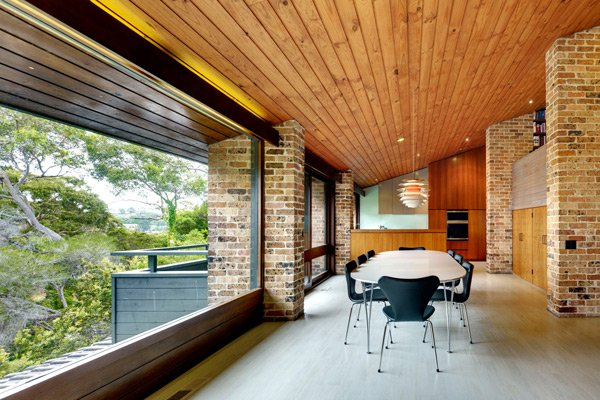 mid-century inspired in Sydney - Erby House - dining area