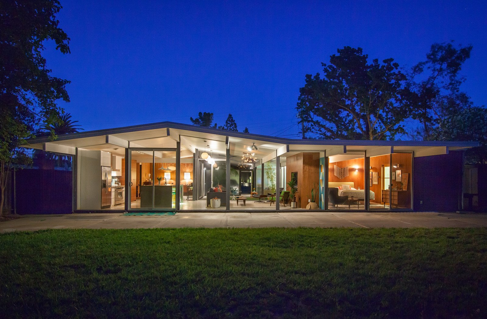 Karen Napacena - Eichler Renovation Walnut Creek - outside night