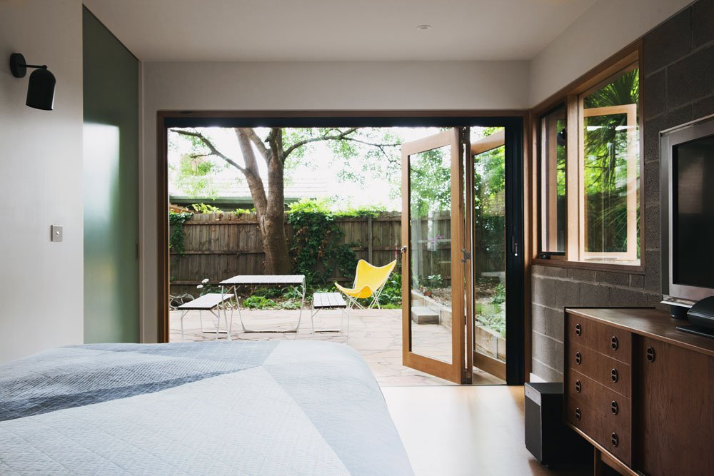 mid-century house in melbourne - Rosanna Nest architects - bedroom