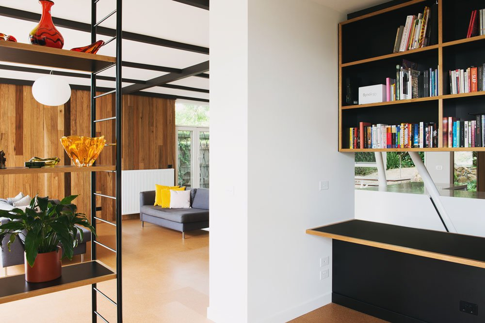 mid-century house in melbourne - Rosanna Nest architects - living room