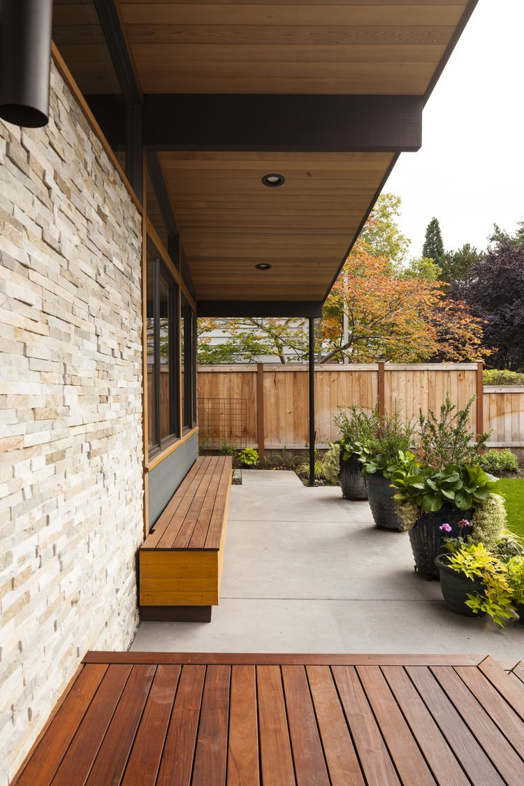 madison mid-century house seattle - first lamp architects - outside terrace
