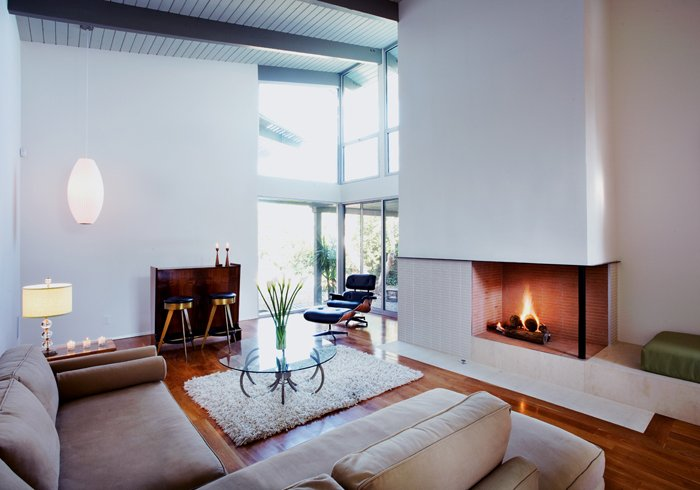 Architect Cory Buckner - Crestwood Hills - Riley Residence - living room