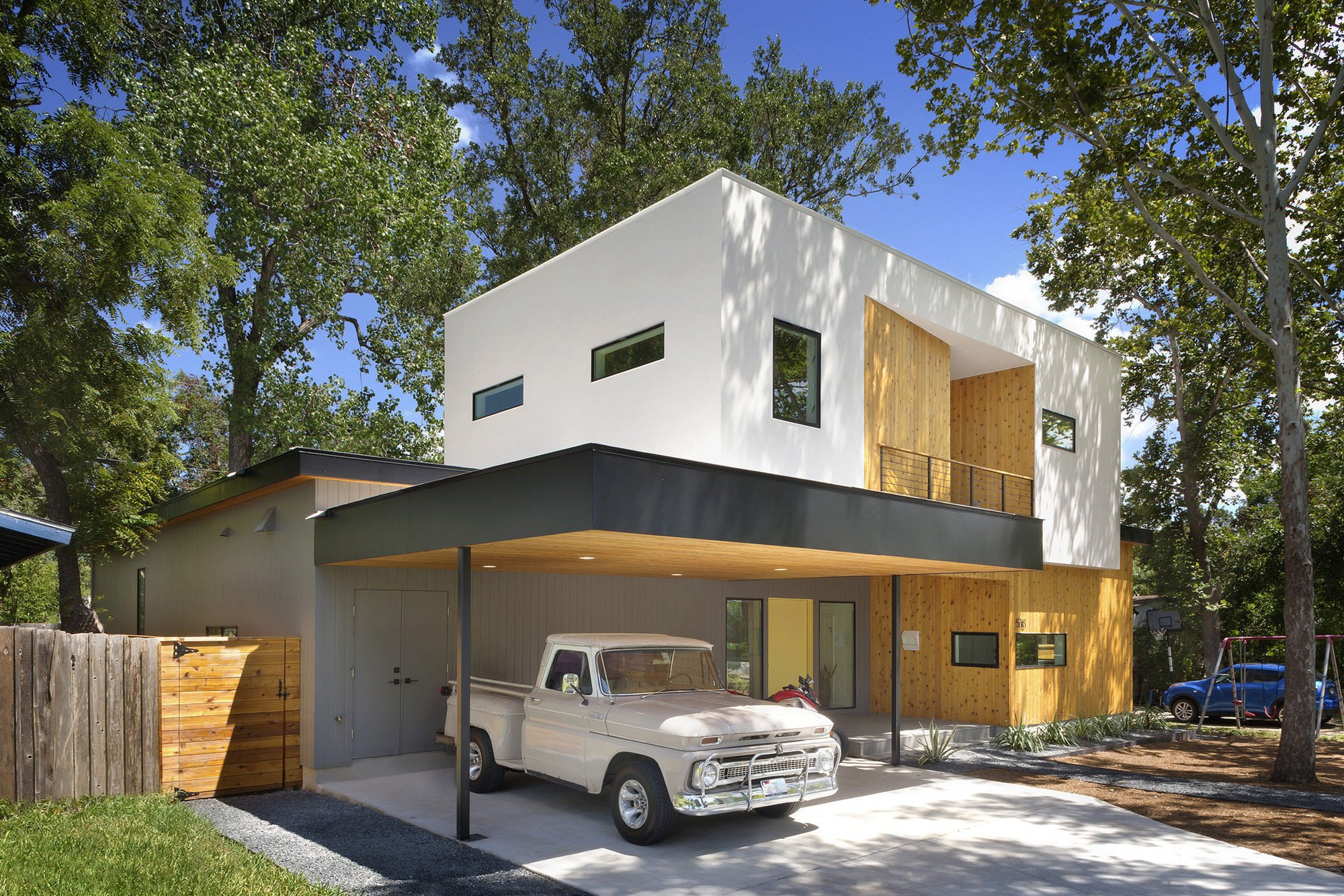 Austin modern tree house matt fajkus architecture carport