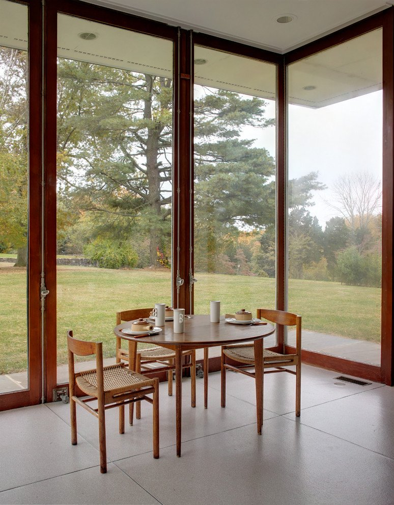 Gores pavilion New Canaan - dining area