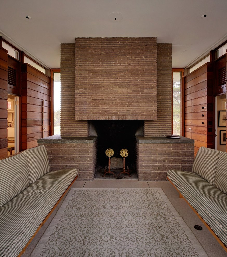Gores pavilion New Canaan - living area