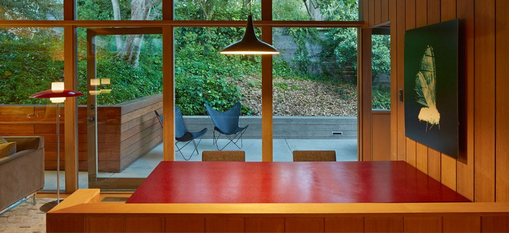 mid-century house in oxford - koch architects - dining area
