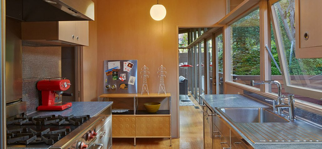 mid-century house in oxford - koch architects - kitchen