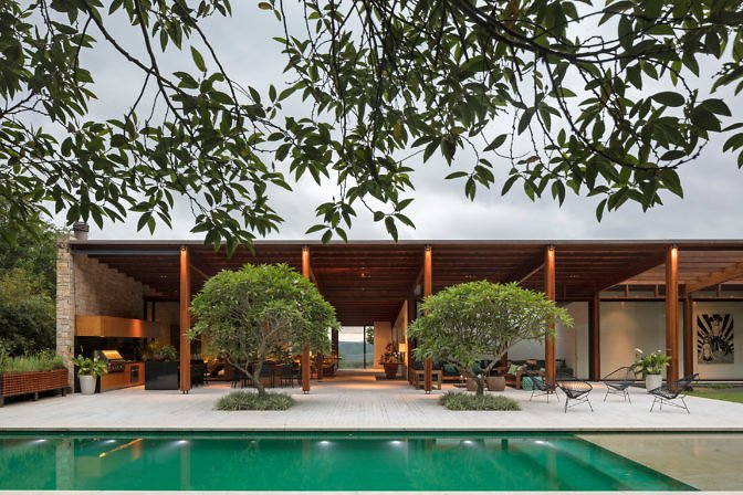 Contemporary Home Sao Paulo - exterior swimming pool