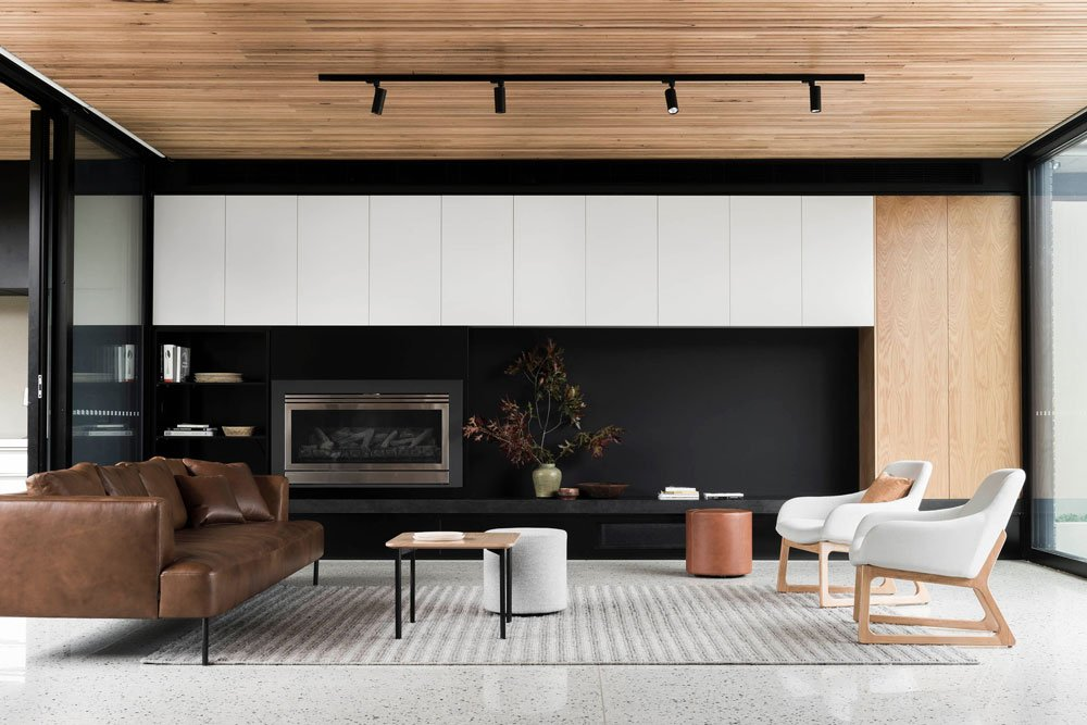 FIGR architects Courtyard House living room 3