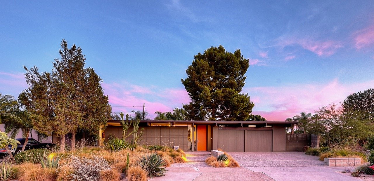 Eichler in Orange County - exterior front