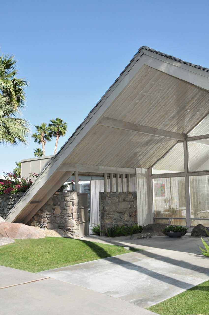 A-frame house by charles dubois in Palm Springs
