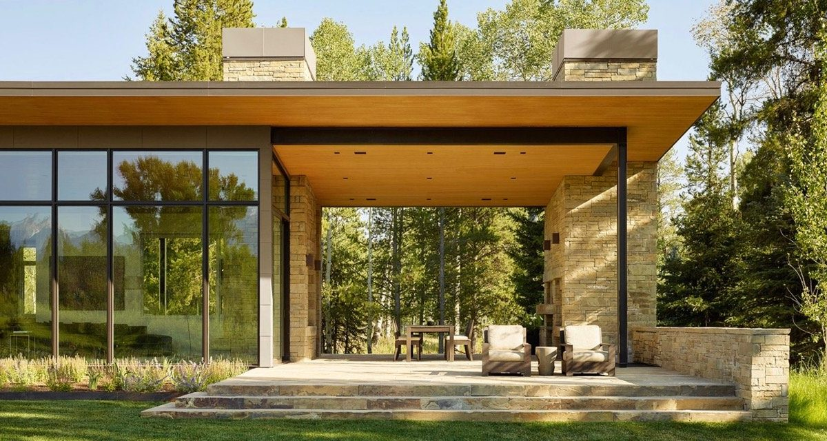 JD2 Residence - Carney Logan Burke Architects - exterior living room view