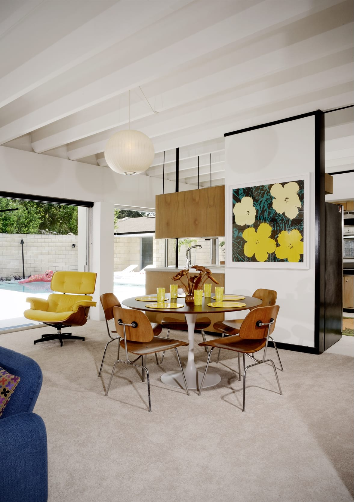 Christopher florentino - midcentury home Florida - dining area