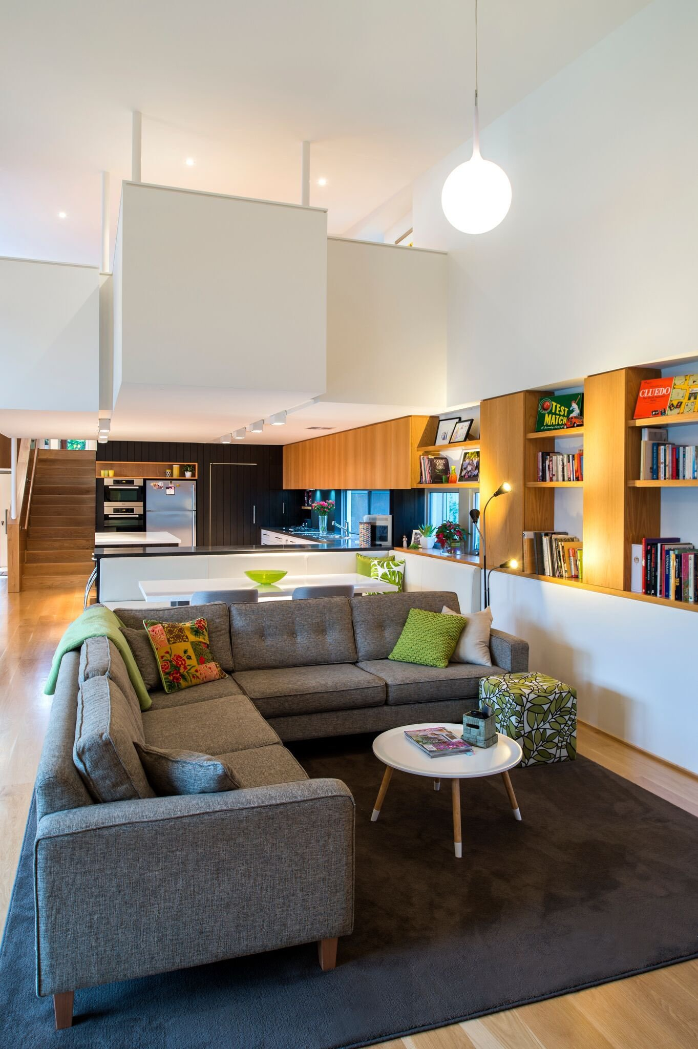 Modern home - moreing rd - mountford architects - living room