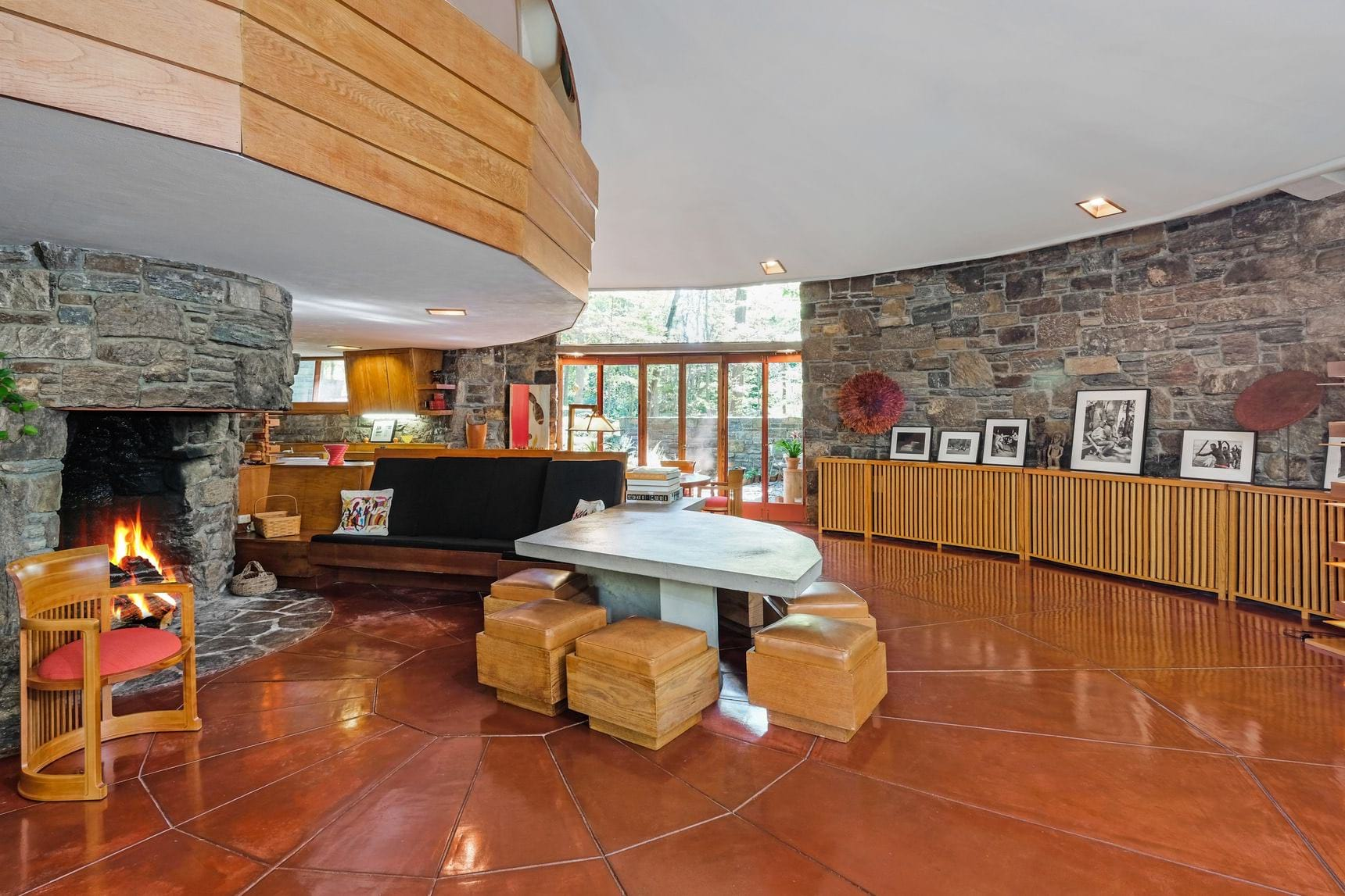 Frank Lloyd wright - sol Friedman house - living room