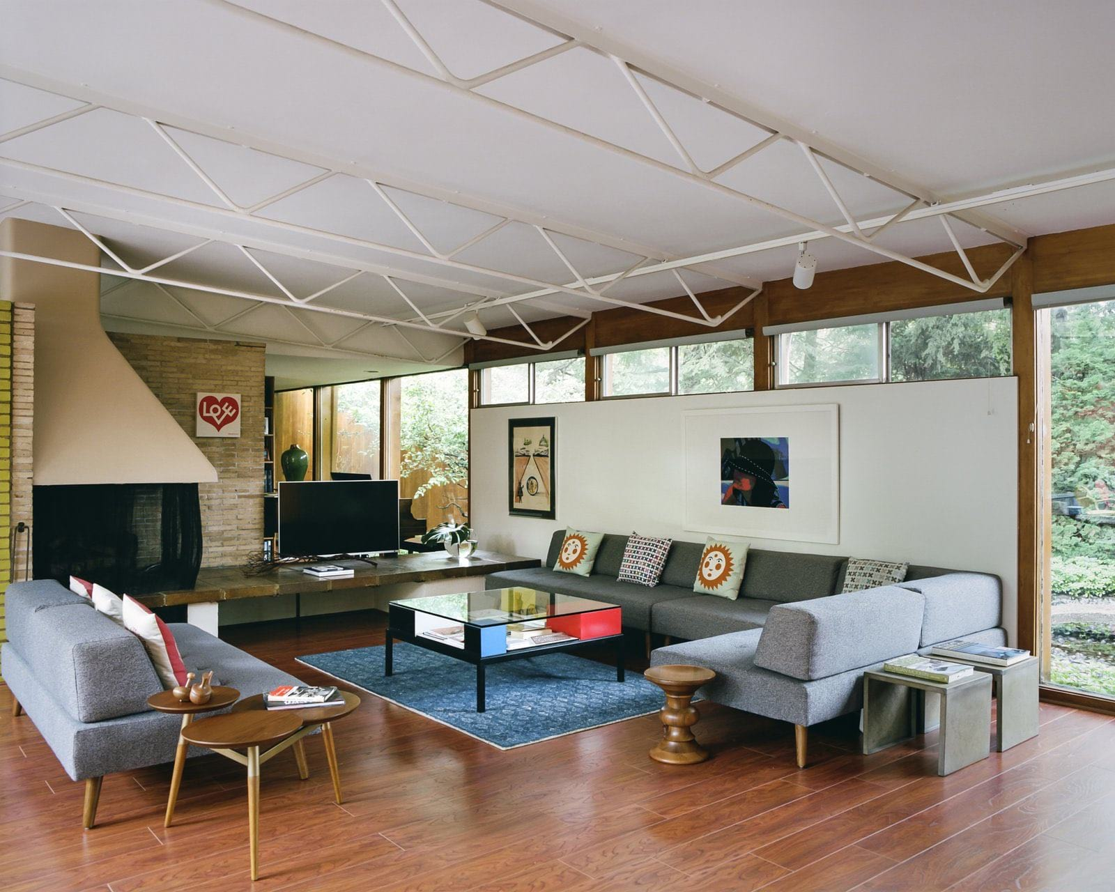Alexander Girard residence In Michigan - living room