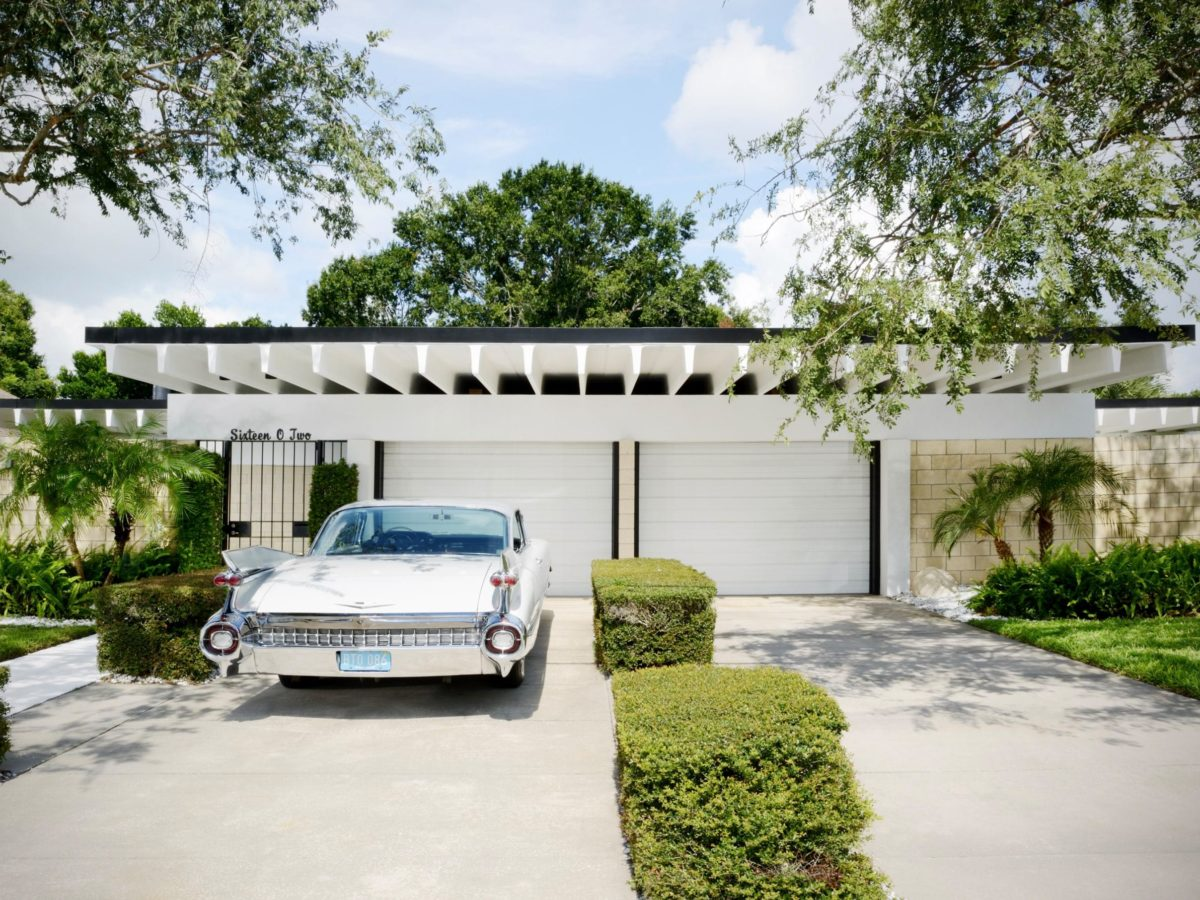 Christopher florentino - midcentury home Florida - exterior Cadillac