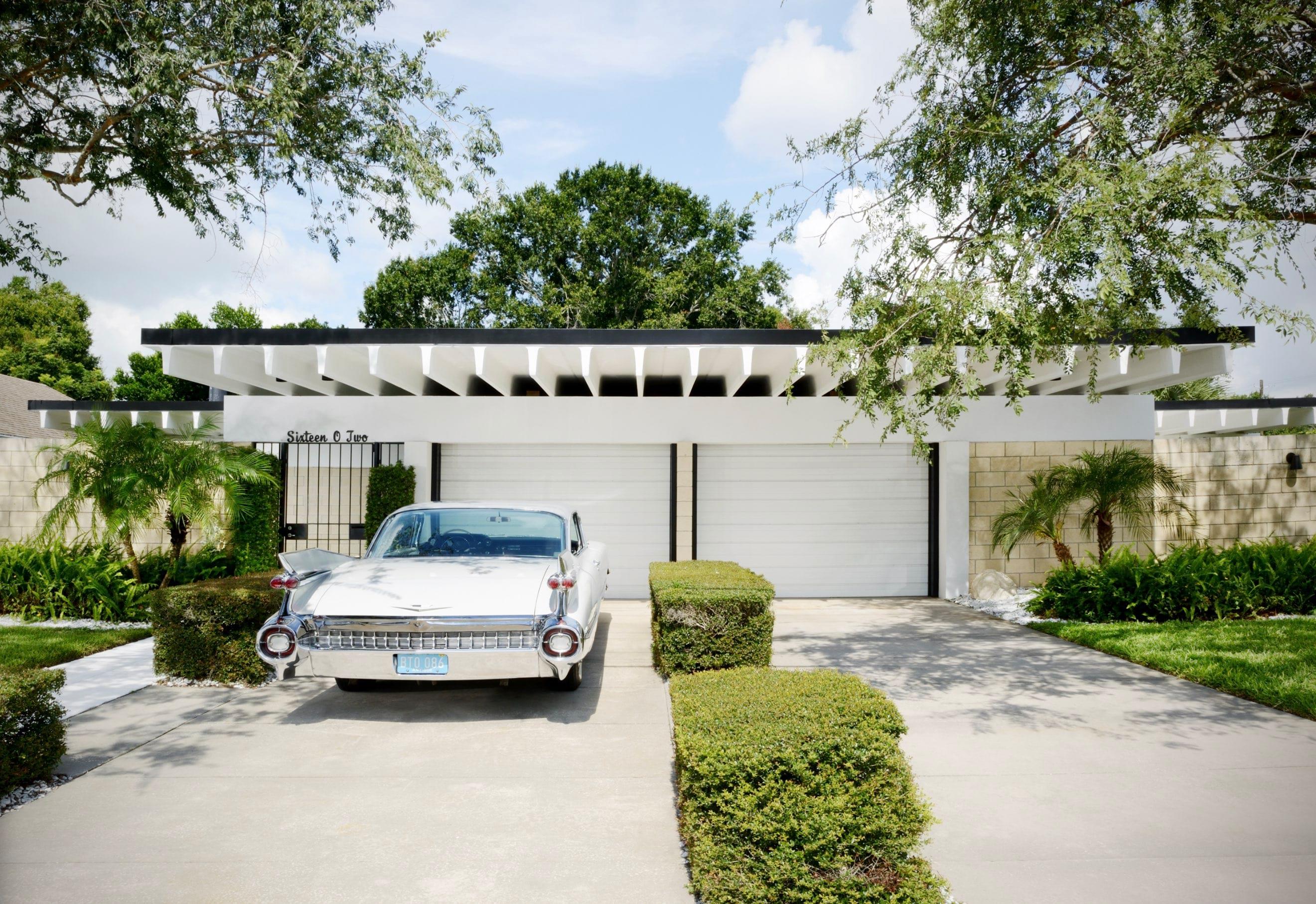 Christopher florentino - midcentury home Florida - exterior Cadillac