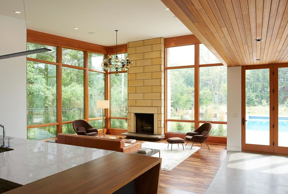 Theodore Wirth Ranch - midcentury inspired modern - Strand Design - Living room