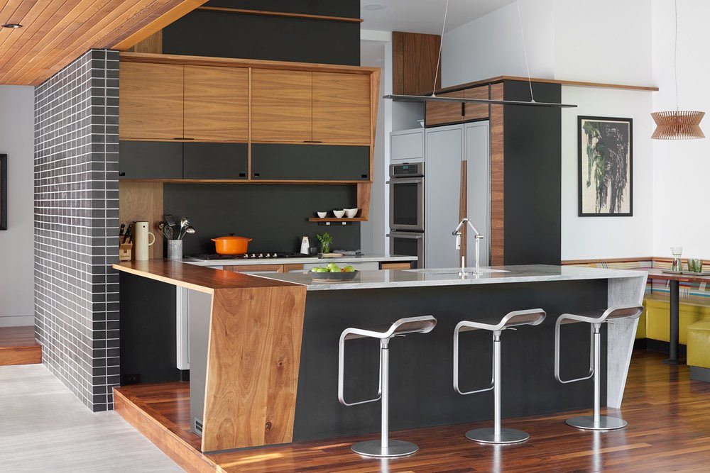 Theodore Wirth Ranch - midcentury inspired modern - Strand Design - kitchen
