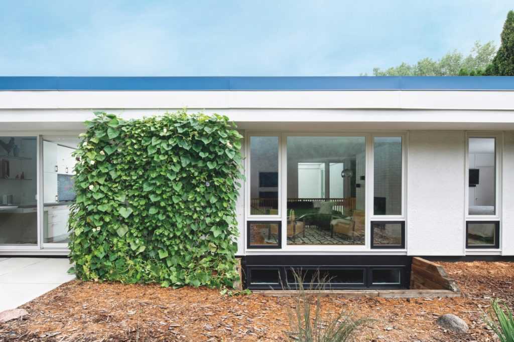 Matt Muenster  midcentury home renovation  - exterior front