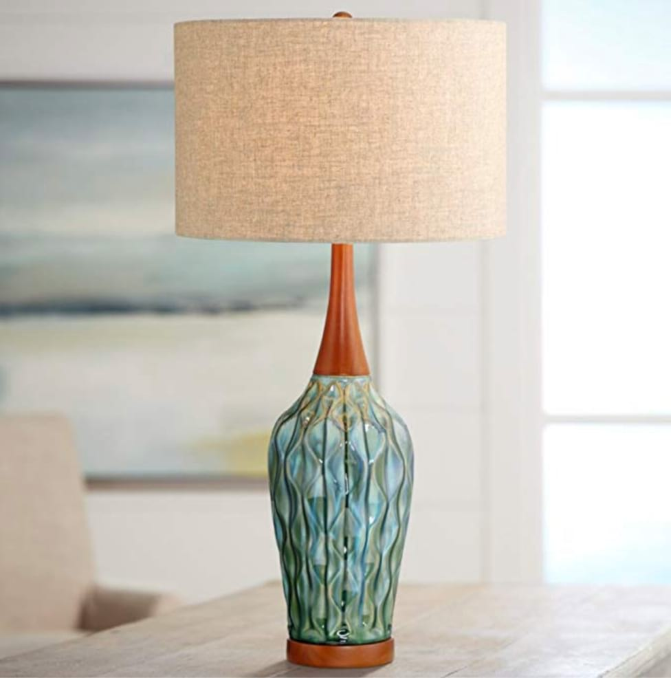 Midcentury ceramic lamp - 360 lighting