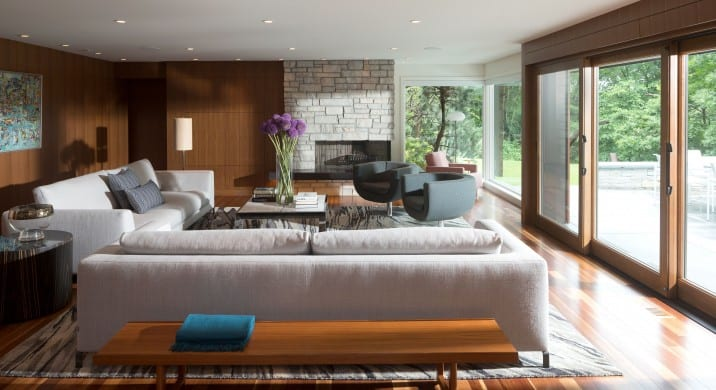 Midcentury modern home renovation in Minnesota - LIVING ROOM